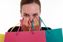 Young beautiful woman with shopping bags Stock Photo