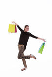 Young beautiful woman with shopping bags Stock Photography