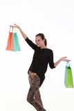 Young beautiful woman with shopping bags Royalty Free Stock Photos