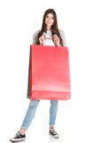 Young beautiful woman is shopping. Stock Photos