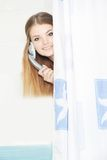Young beautiful woman in shower Royalty Free Stock Photos
