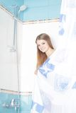 Young beautiful woman in shower Royalty Free Stock Images