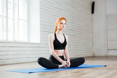 Free Young Beautiful Woman Sitting In Yoga Position Royalty Free Stock Photography - 72976887