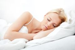Young beautiful woman sleeping Royalty Free Stock Images