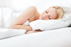 Young beautiful woman sleeping Royalty Free Stock Photo