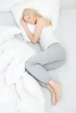 Young beautiful woman sleeping Stock Image