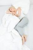 Young beautiful woman sleeping Stock Image