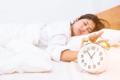 Young beautiful woman sleeping Stock Images