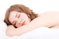 Young beautiful woman sleeping Royalty Free Stock Photo