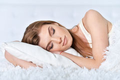 Young beautiful woman sleeping Royalty Free Stock Photos