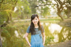 Young beautiful woman smile in the autumn Royalty Free Stock Image