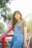 Young beautiful woman smile in the autumn Stock Images