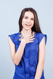 Young beautiful woman with smile Stock Photography