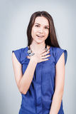 Young beautiful woman with smile Stock Photo