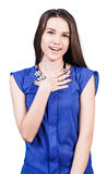 Young beautiful woman with smile Royalty Free Stock Image