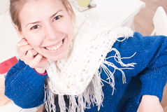 Young beautiful woman smiling Stock Photography
