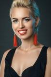 Young beautiful woman smiling posing in studio Stock Photo