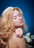 Young beautiful woman with snowy skin Stock Photo