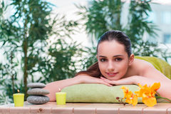 The young beautiful woman during spa procedure Royalty Free Stock Photography