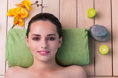 The young beautiful woman during spa procedure Royalty Free Stock Image