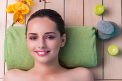 The young beautiful woman during spa procedure Royalty Free Stock Photos