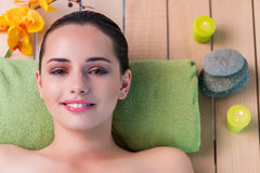 The young beautiful woman during spa procedure Stock Photography