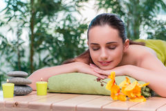 The young beautiful woman during spa procedure Royalty Free Stock Images