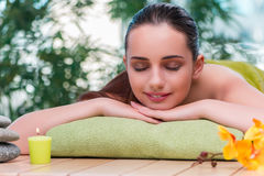The young beautiful woman during spa procedure Royalty Free Stock Photo