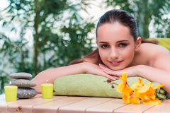 The young beautiful woman during spa procedure Stock Images