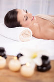 Young beautiful woman in the spa salon Royalty Free Stock Photo
