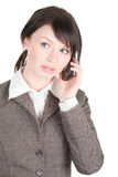 Young beautiful woman speaking on the phone Stock Photography