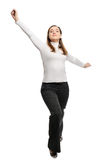 Young beautiful woman stands Stock Photo