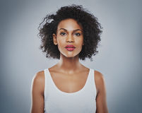 Young beautiful woman staring Royalty Free Stock Image