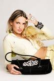 Young beautiful woman studio portrait royalty free stock image