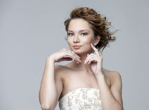 Young beautiful woman Stock Images