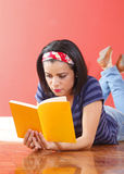 Young beautiful woman studying Royalty Free Stock Image