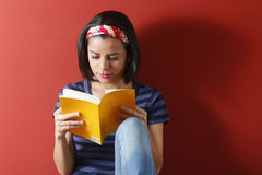 Young beautiful woman studying Stock Image