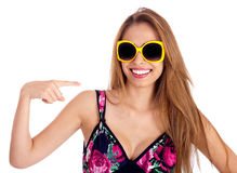 Young beautiful woman with sunglasess Stock Photography
