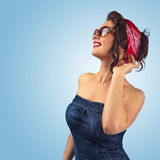 Young beautiful woman with sunglasses Royalty Free Stock Photography