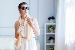 Young beautiful woman in sunglasses Stock Photos