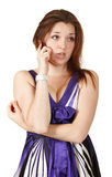 Young beautiful woman talking on mobile phone Stock Photo