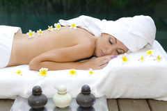 young beautiful woman to Spa procedures Stock Image