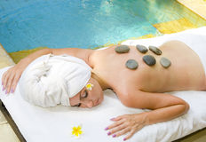 The young beautiful woman to Spa procedures Stock Photography