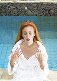 The young beautiful woman to Spa procedures Stock Photo