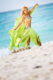 Young beautiful woman in traditional arabic clothes Royalty Free Stock Images