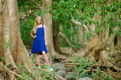 Young beautiful woman on a tropical island Stock Photo