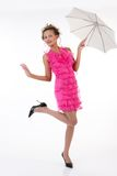 Young Beautiful Woman With Umbrella Royalty Free Stock Photography