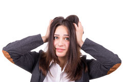 Young beautiful woman under stress Royalty Free Stock Photo