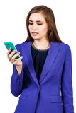 Young beautiful woman using smartphone Royalty Free Stock Photos
