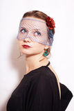 Young beautiful woman in the veil Royalty Free Stock Photos